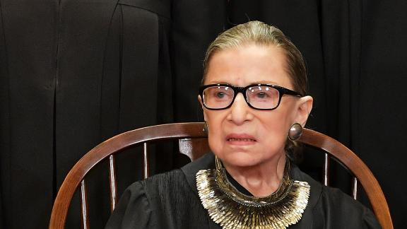 Associate Justice Ruth Bader Ginsburg poses for the official photo at the Supreme Court in Washington, DC on November 30, 2018. (Photo by MANDEL NGAN / AFP)        (Photo credit should read MANDEL NGAN/AFP via Getty Images)