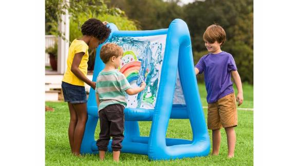 HearthSong Blue/White Double-Sided Inflatable Easel