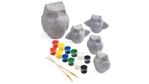 HearthSong Color Pops Paint-Your-Own Rocks, Owls
