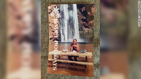 Ann Lovell's postcard from Havasu Falls, Arizona in 1987