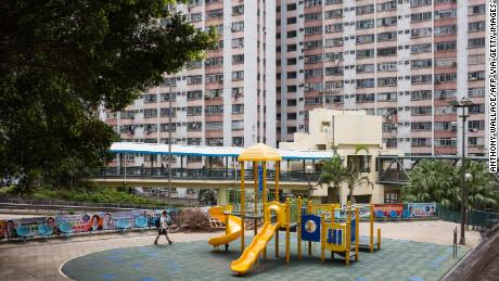 The housing estate where the 56-year-old rat hepatitis E patient lived in Hong Kong. Signs of a rat infestation were found here after he was confirmed infected in 2018.