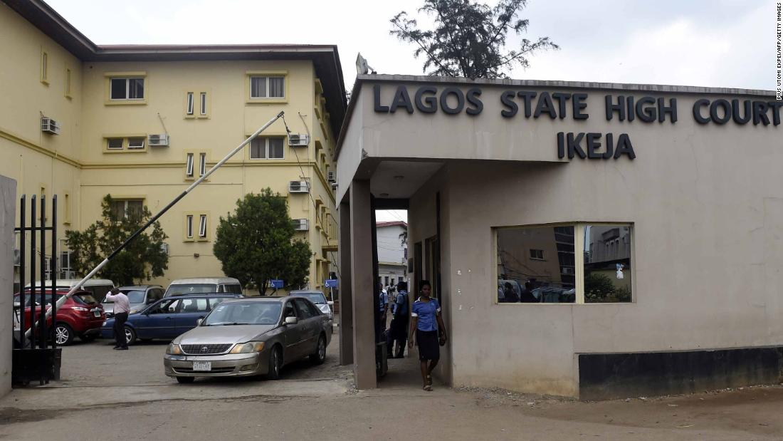 The Lagos state high court complex pictured in January 2019.