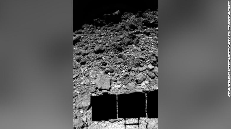 Hayabusa2 captured this image just before landing on the asteroid Ryugu in February 2019.