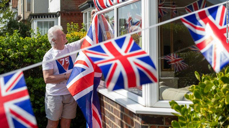 The UK government is encouraging people to decorate their houses to mark VE day.