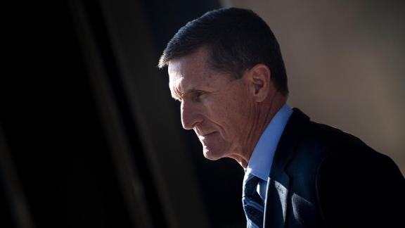 Gen. Michael Flynn, former national security adviser to US President Donald Trump, leaves Federal Court on December 1, 2017 in Washington, DC.