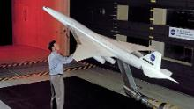 A Boeing-made High Speed Civil Transport model in 1993