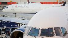Delta jets on the tarmac at Atlanta International Airport
