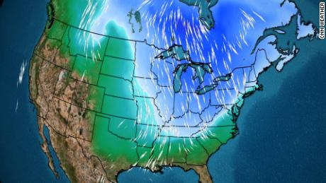 A faint polar vortex is blowing cold Arctic air across much of the United States. New England could even see up to a foot of snow, and in May, no less!