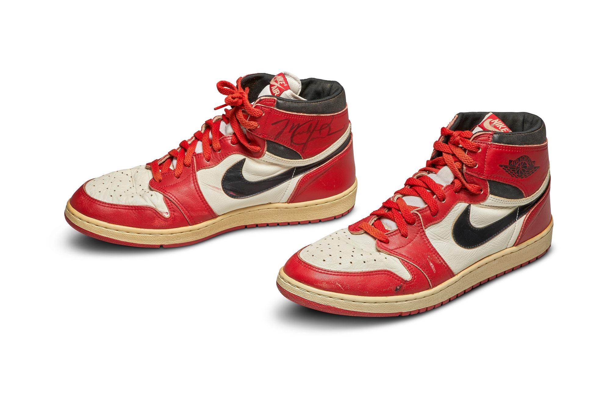 Michael Jordan's signature Air Jordan shoes from 1985 sell for ...
