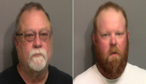 Gregory McMichael and Travis McMichael shown in booking photos from May 7.