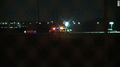 Austin-Travis County EMS and Austin police at Austin-Bergstrom International Airport on Thursday night after a person on a runway was struck by an airplane.