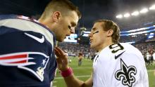 Brady and Brees currently rank first and second in all-time career touchdown passes with 547 and 541 respectively.