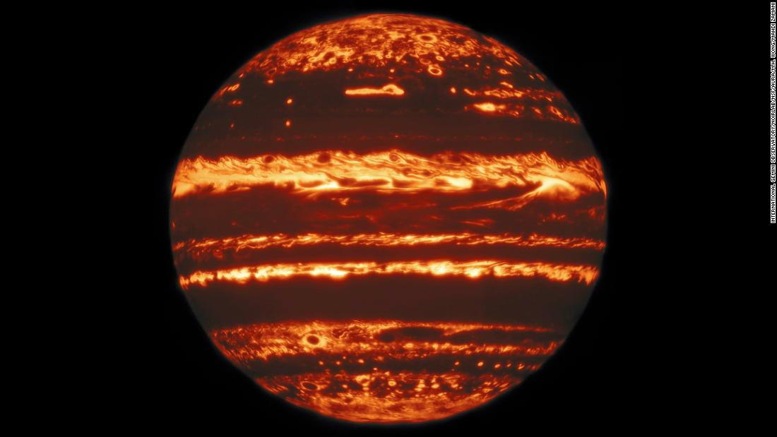New images reveal the heart of Jupiter's storms and the planet's jack-o-lantern glow