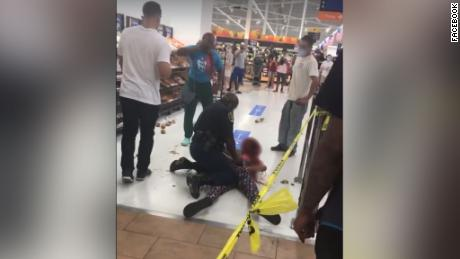 Woman body-slammed by off-duty cop in Alabama Walmart grew disorderly after associate asked she wear a mask, police say
