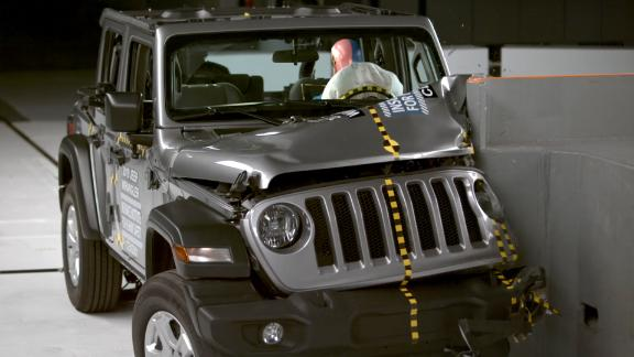 Image for Jeep Wrangler tips over in crash test