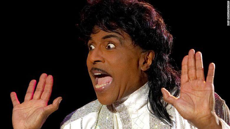 Little Richard performs in Spain in 2005.