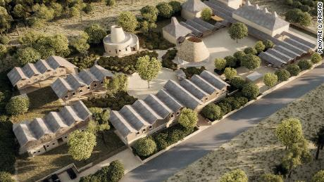 The new Academy campus is being built on a 2.5 hectare plot in southwestern Gambia close to the border of Senegal and designed by London-based architectural firm Penoyre & Prasad.