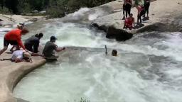 Hiker trapped in whirlpool, rescued by officer using cord from backpack