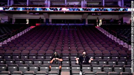 UFC 249 took place with no fans Saturday due to the ongoing coronavirus pandemic.