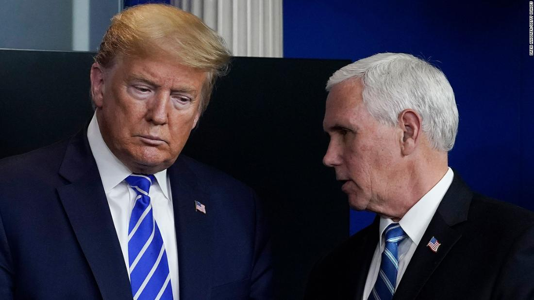 White House Covid cases contradict Trump's message on opening