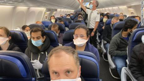 """""""I guess @united is relaxing their social distancing policy these days? Every seat full on this 737,"""" Dr. Ethan Weiss said in a tweet on Saturday."""