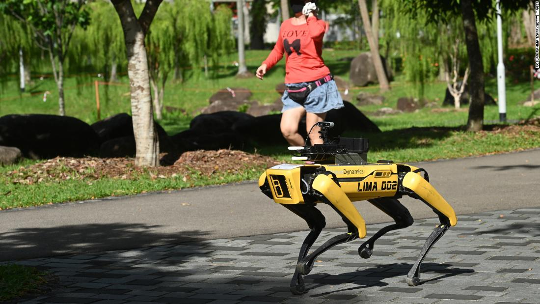 Watch Boston Dynamics' Spot robot encourage social distancing