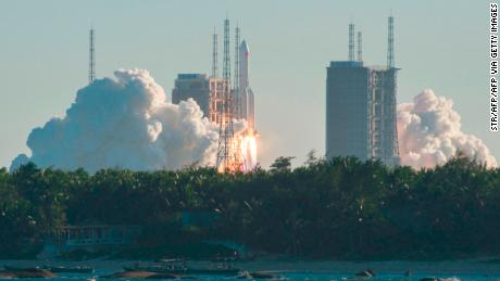 China launched its Long March-5B rocket with an unmanned prototype spacecraft on May 5.