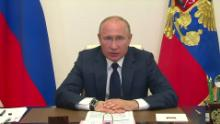 Putin has been leading the nation via video conference.