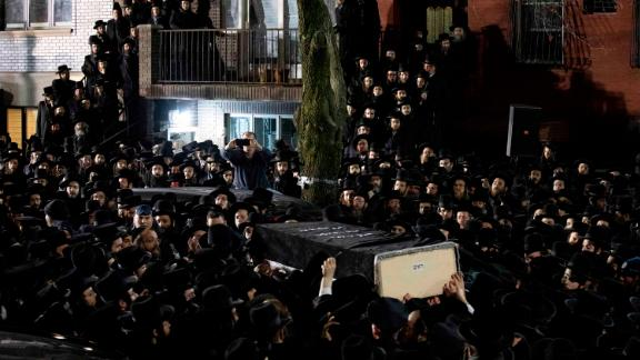 A funeral was held in Brooklyn for an Orthodox Jewish man killed in a targeted attack in Jersey City.