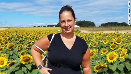 Angela Schub, who works at Stop & Shop, has taken off work because of the pandemic.