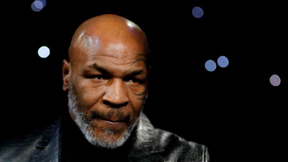 Former boxer Mike Tyson makes an appearance before the WBC Heavyweight Title fight on February 22 at The Grand Garden Arena at MGM Grand in Las Vegas.
