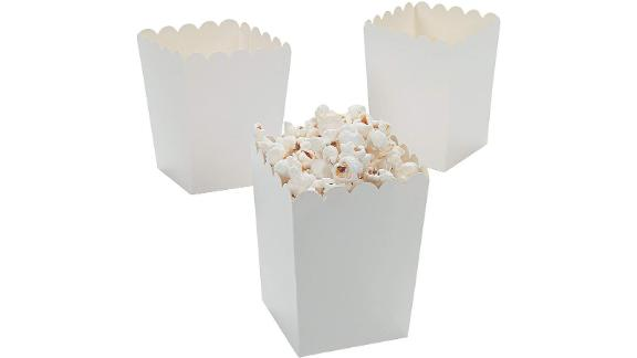 Fun Express Mini White Popcorn Boxes