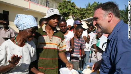 Chef José Andrés in Haiti in 2010. (Courtesy World Central Kitchen)