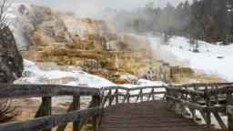 A woman suffers burns after entering illegally Yellowstone National Park, park officials say