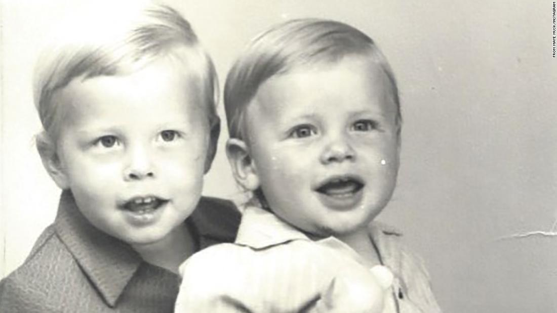 "Musk, left, is seen with his brother, Kimbal, in this childhood photo <a href=""https://www.instagram.com/p/Byxl2pIJrkL/?hl=en"" target=""_blank"">posted by their mother, Maye.</a> Elon Musk was born June 28, 1971, in Pretoria, South Africa. His mother is a model and nutritionist. His father, Errol, is an engineer."