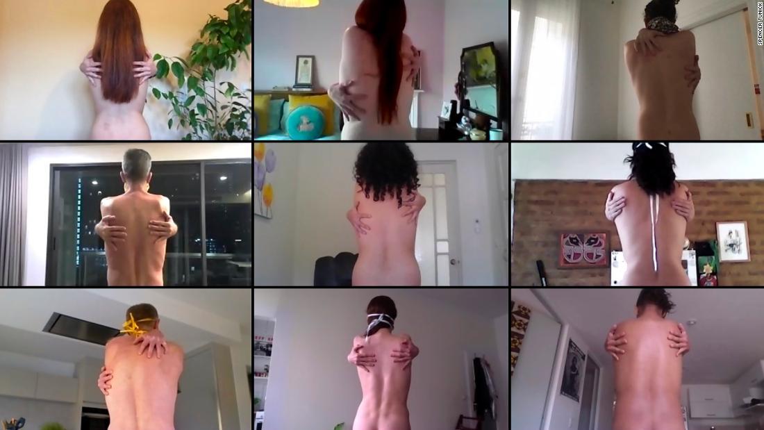 Film of artist's mass nude photo shoot