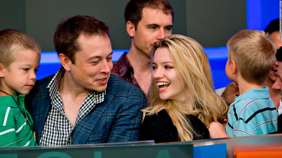 Musk is joined by his fiancee, actress Talulah Riley, and his twin sons, Griffin and Xavier, at a Nasdaq opening-bell ceremony in 2010. Musk has been married three times — twice to Riley. Their second divorce came in 2016.