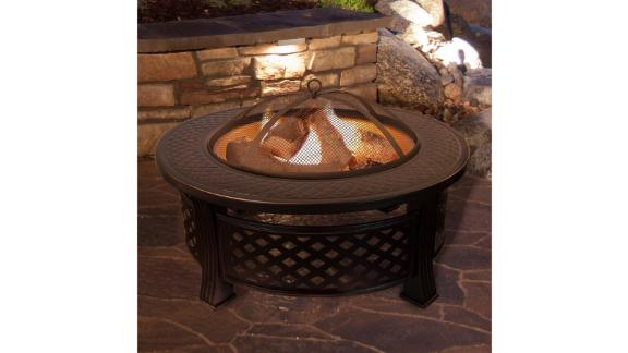 Millwood Pines Janes Steel Wood-Burning Fire Pit Table