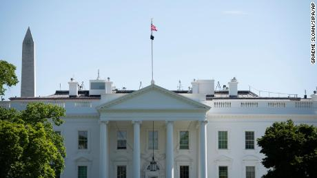 A general view of the White House in Washington, D.C., on May 2, 2020 amid the Coronavirus pandemic.