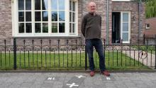 Though most of Julien Leemans' house is in the Netherlands, his front door is in Belgium.