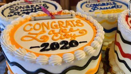 Hanisch and his team are baking 730 7-inch cakes for local graduates.