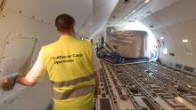 German carrier Lufthansa retrofits a plane to carry additional cargo.