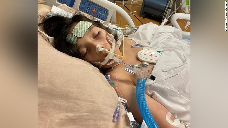 Juliet Daly passou quatro dias em um ventilador em um hospital de Nova Orleans.