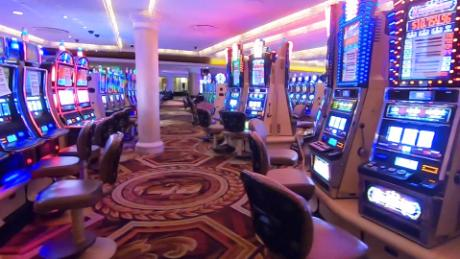 The gaming floor at Caesars Palace casino sits quiet as executives pave the way for a safe revival amid the pandemic.