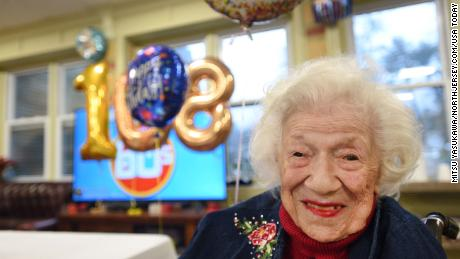Sylvia Goldsholl celebrating her 108th birthday in December.