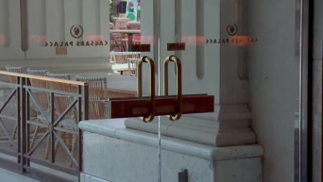 The doors to Caesars Palace Las Vegas Hotel & Casino remain locked this week.