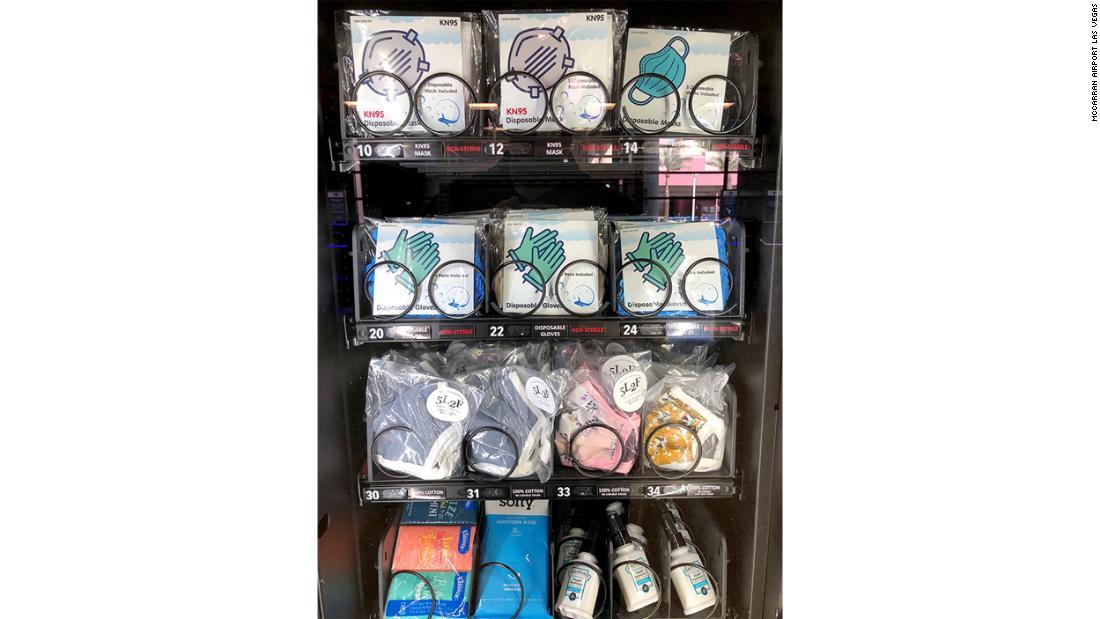 Las Vegas airport provides PPE vending machines for passengers