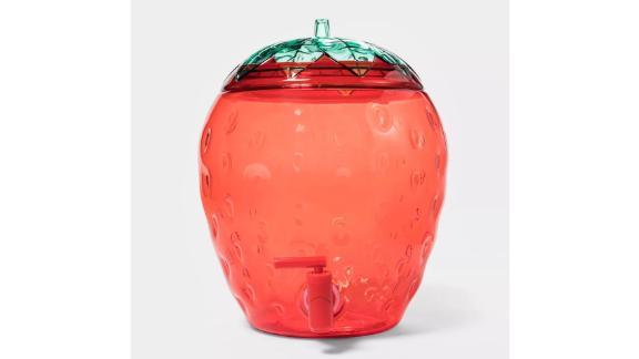 Plastic Strawberry Beverage Dispenser