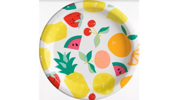 Disposable Fruit Dinner Plate Set of 20