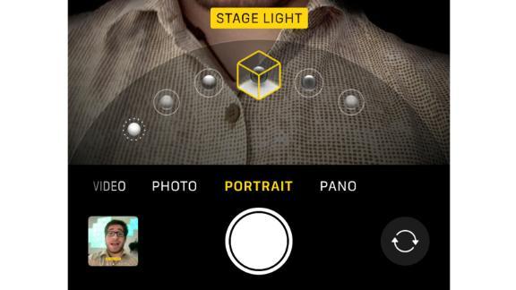 """Swipe left to switch to """"Portrait."""""""